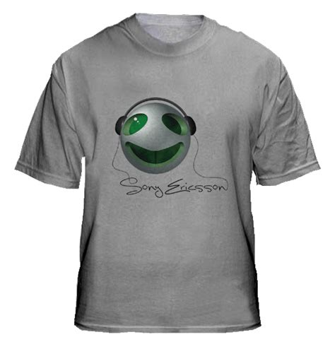 T Shirt Kaos Sony sony ericsson collections t shirts design