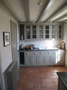 grey cupboards and terracotta tiles try farrow and ball manor house grey for this modern