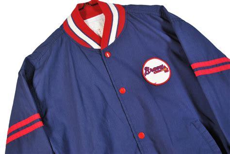 Rikudou Baseball Jacket Ja Nrt 70 youth xl vtg 80s atlanta braves mlb baseball snap jacket