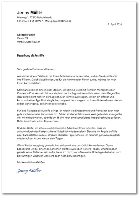 Bewerbungsanschreiben Ferienjob Daimler Bewerbung Minijob Tipps Und Muster