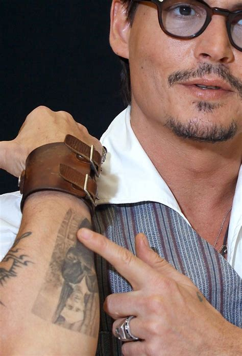johnny tattoos 133 best images about i johnny depp bits on