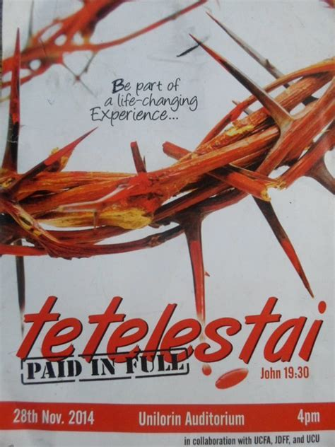 UNILORIN Christian Body Presents   TETELESTAI (paid In