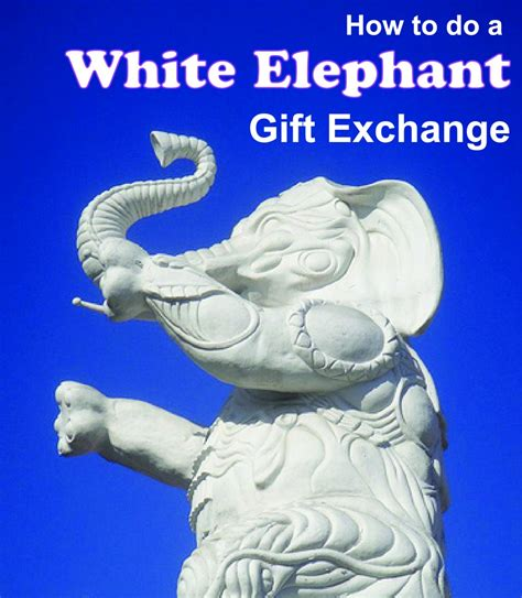 white elephant gift exchange for a fun and frugal