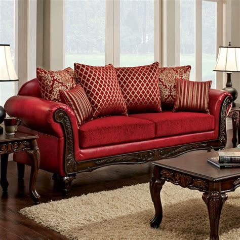 furniture of america sofa furniture of america hassan upholstered sofa in idf