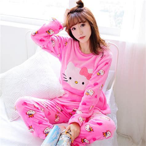 Pajamas Piyama Hk Pink hello pajamas