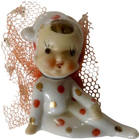 miniaturebone china xmas figurines vintage adorable bone china miniature baby pixie from gumgumfuninthesun on ruby
