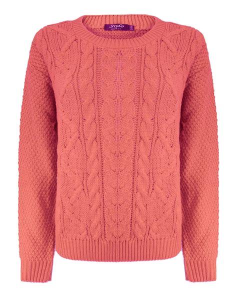 womens cable knit womens cable knit sleeve knitted jumper