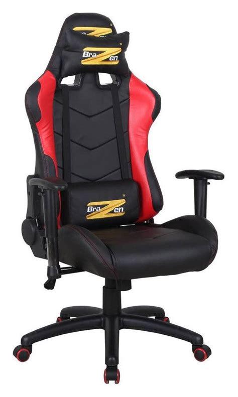 Brazen Shadow Pro Racing Pc Gaming Chair brazen shadow pro gaming chair black