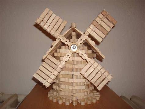 moinho em molas de madeira fairy gardens craft stick