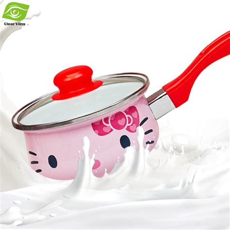 induction cooking milk aliexpress buy 16cm enamel milk pot cooking pot for induction cooker small milk pan from