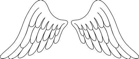angel wings outline clip art 54