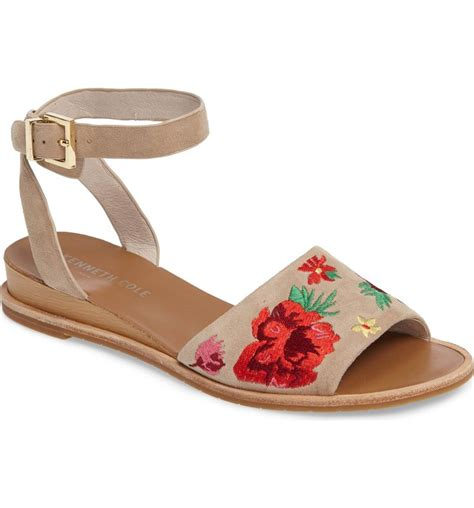 Kenneth Cole New York Bronze Floral Slingback by Image Kenneth Cole New York Jory Embroidered Sandal