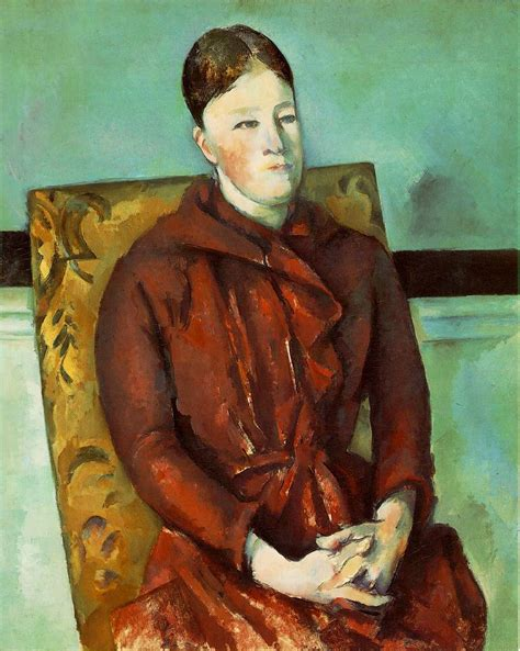 Madame Cezanne In A Armchair by Webmuseum 233 Zanne Paul Portraits Of Mme 233 Zanne