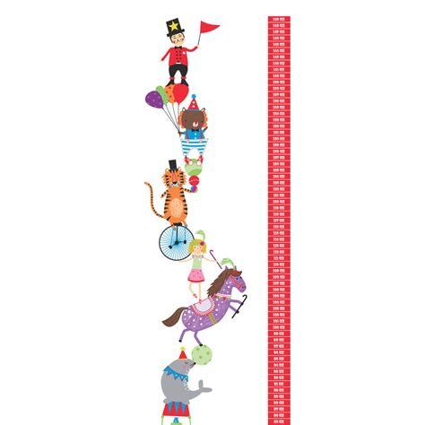 height chart wall stickers personalised circus height chart wall stickers by