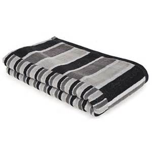 black and white bath towel wilko stripe bath towel black grey at wilko