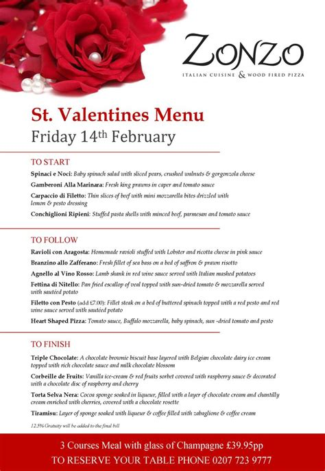 valentines day restaurant menu zonzo s menu 2014 around the world dinner