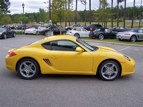 porsche cayman yellow 2010 porsche cayman in speed yellow with black interior