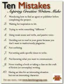 Essay About Advice by 10 Mistakes Aspiring Creative Writers Make Writers And Authors