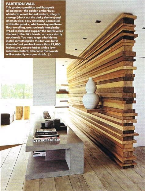 wooden partition wall room divider creative idea pinterest wood partition