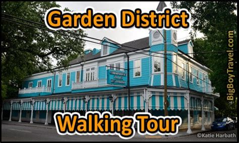 Garden District New Orleans Walking Tour Map by New Orleans Garden District Walking Tour Bigboytravel