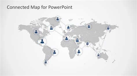 connected map powerpoint template