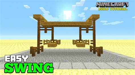 swing minecraft minecraft how to make a swing tutorial park survival