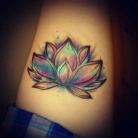 new tattoo water my new tattoo it s a lotus the flower retreats back into