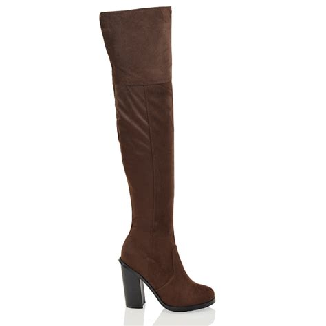 the knee block heel womens slim fit cut out