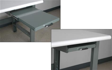 desk with pull out writing surface workbench computer accessories sjf com