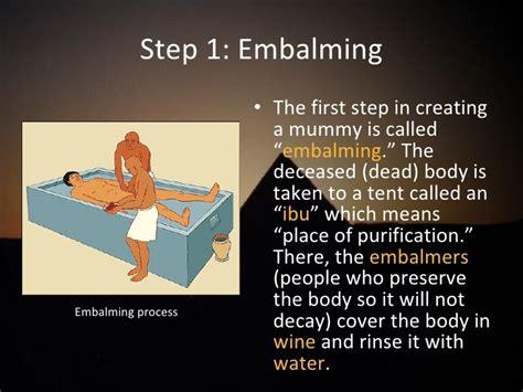 Cd Ori Steps Step One 1 mummification