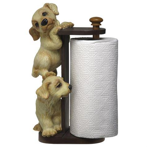 golden retriever holder big sky carvers 174 golden retriever paper towel holder 25798 dinnerware flatware
