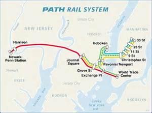 path rail map new jersey paths maps