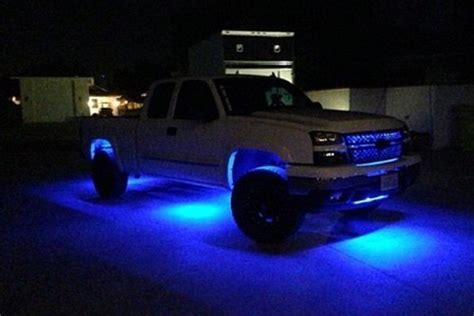 underglow lights for trucks recon 174 264700bl 12 quot flexible blue led underbody kit