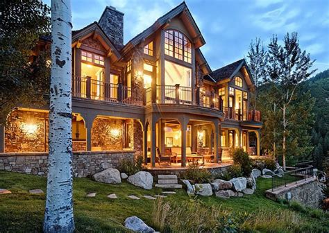 Home Plans Colorado by 16 Million Mountaintop Mansion In Aspen Co Homes