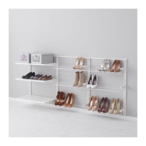 algot wall upright shelves shoe organizer ikea