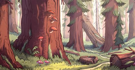 Bill Marsilii And High Concept by Image Gravity Falls Forest Jpg Gravity Falls Wiki