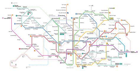 barcelona metro map barcelona metro map bcn metro map