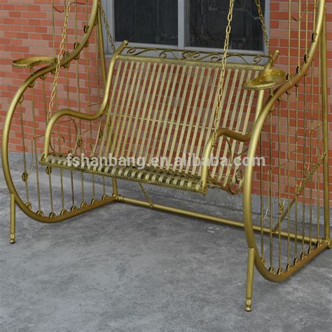 wrought iron swings outdoor patio garden antique metal wrought cast iron swing