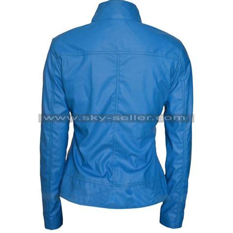 Costume Jaket Anime Blue Yellow batgirl blue yellow costume leather jacket