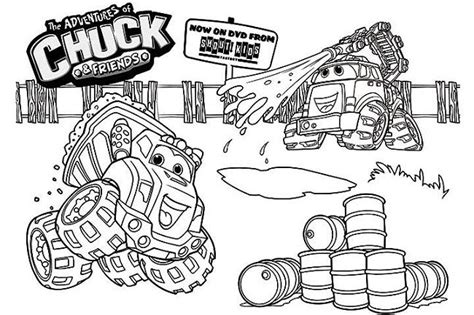 chuck the truck coloring pages coloring pages