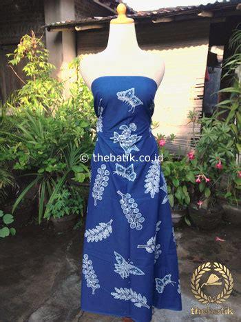 Batik Tulis Warna Alam Motif Daun jual kain batik tulis warna alam motif kembang kapas biru