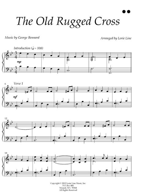Sheet For Rugged Cross by Christian Hymns Myshecave