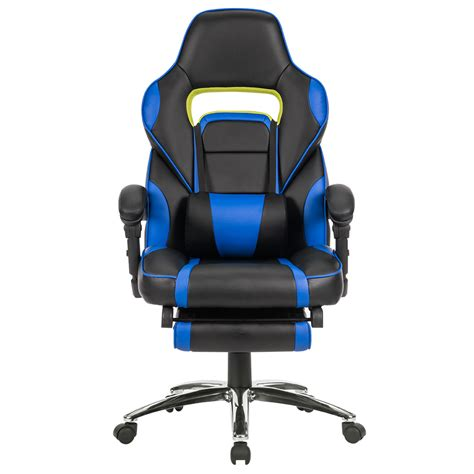 reclining gaming desk chair ergonomic high back racing reclining computer gaming