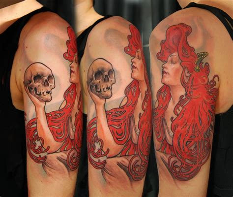 alphonse mucha tattoo mucha by bhbettie on deviantart