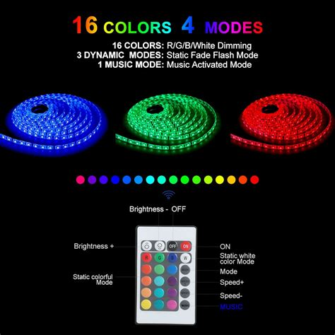 lights that sync with music galleon led strip lights led lights sync to music 16 4ft