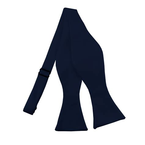 bts 53 solid navy blue self tie bow tie