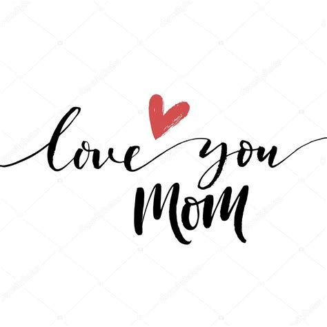 imagenes de i love you mom love you mom phrase stock vector 169 gevko93 112688174