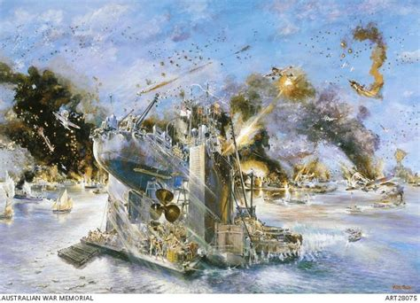 libro darwin 1942 the japanese one of the best paintings of ww2 the japanese raid on darwin 1942 with hmas katoomba in the