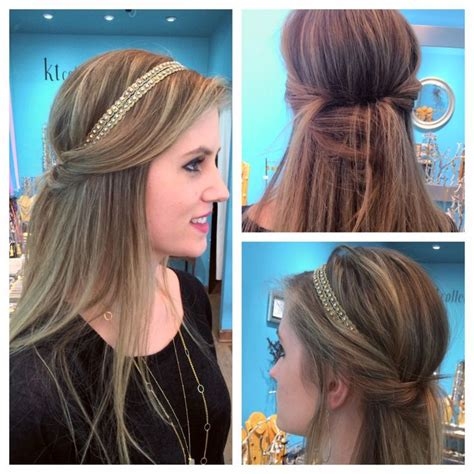 down hairstyles with headbands 1000 ideas about headband hairstyles on pinterest