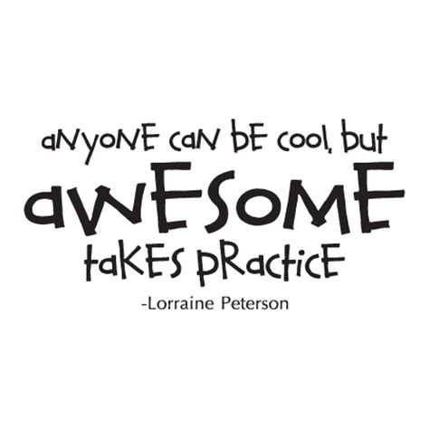 awesome takes practice wall quotes decal wallquotes